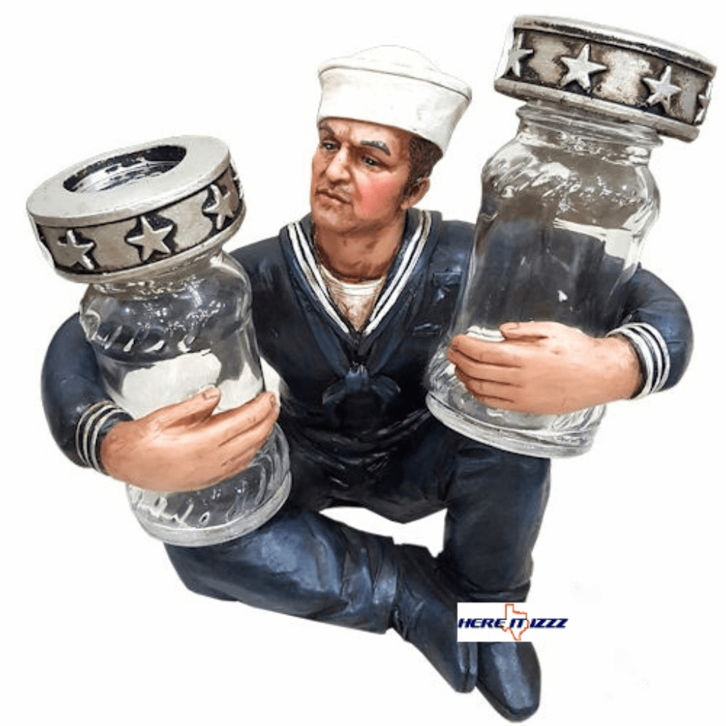 Navy Salt and Pepper Holder