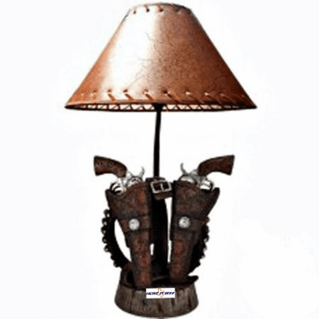 Old West Colt Revolvers Belt Lamp