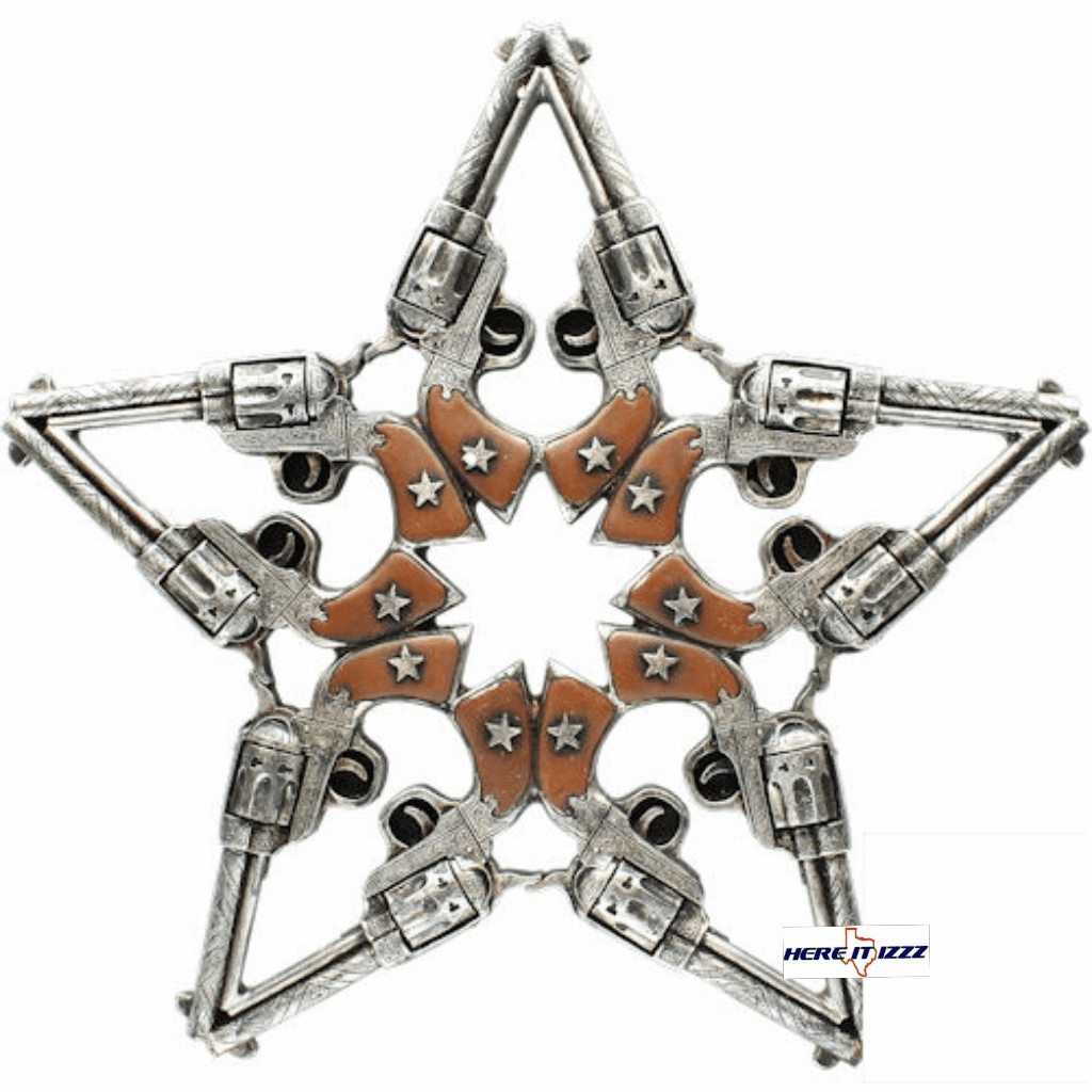 Pistol Handgun Star Wall Hanging