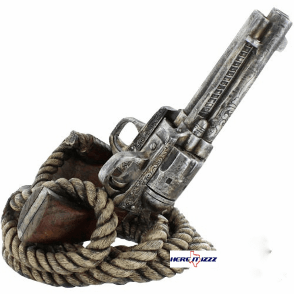 Pistol with Rope  Bottle Holder