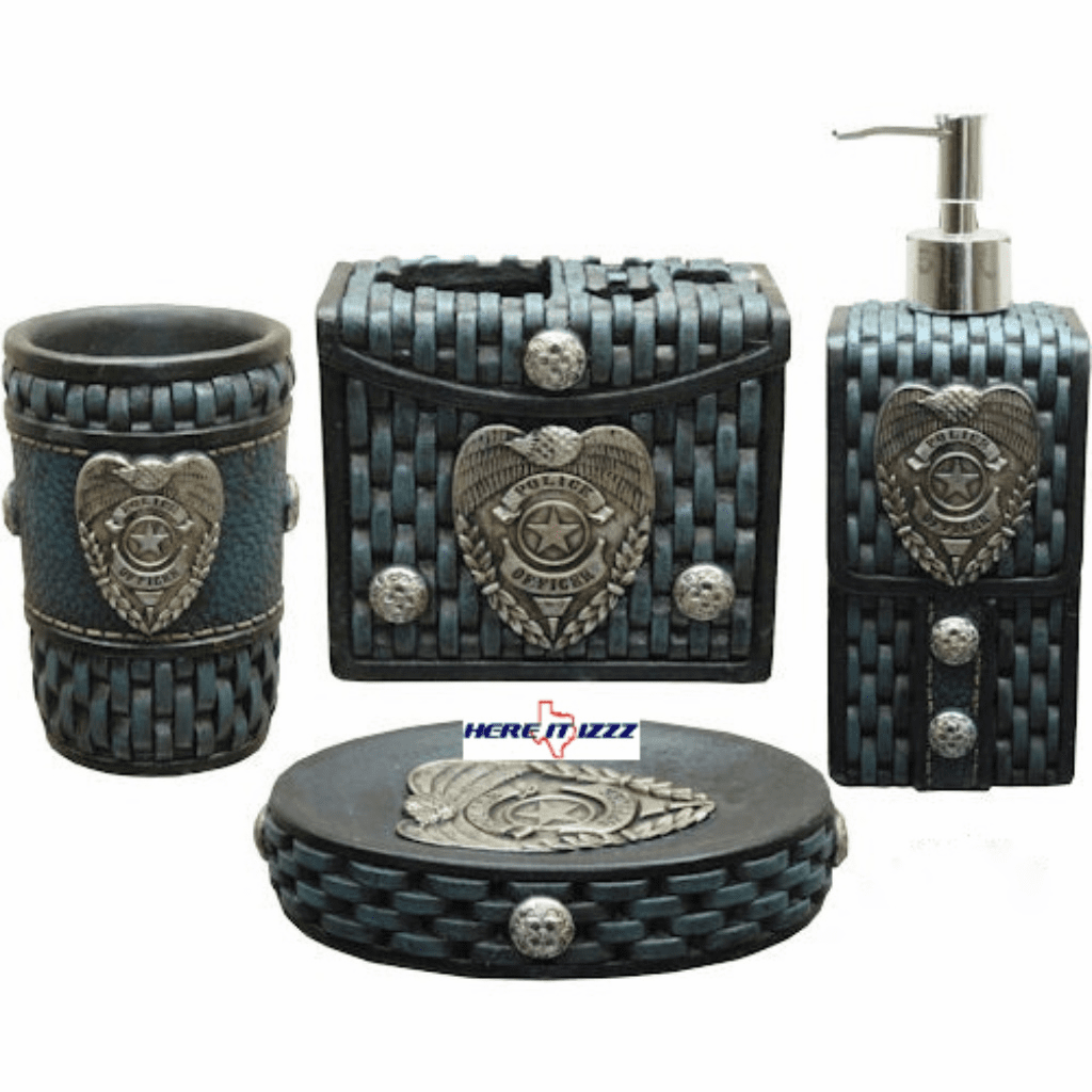 Police Officer  Bathroom Vanity Set