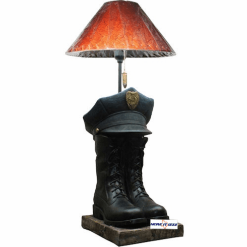 Police Officer Boot Hat Lamp