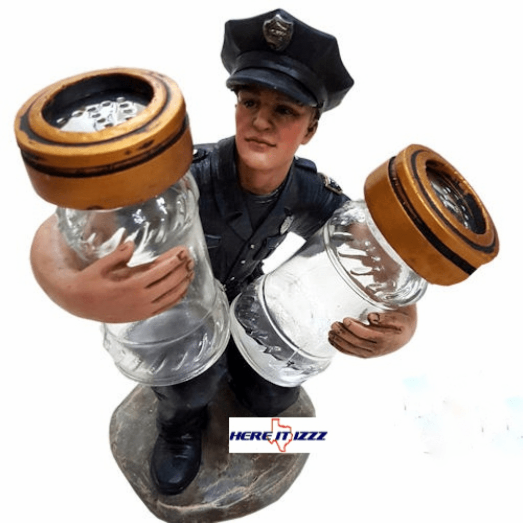 Police Salt and Pepper Holder