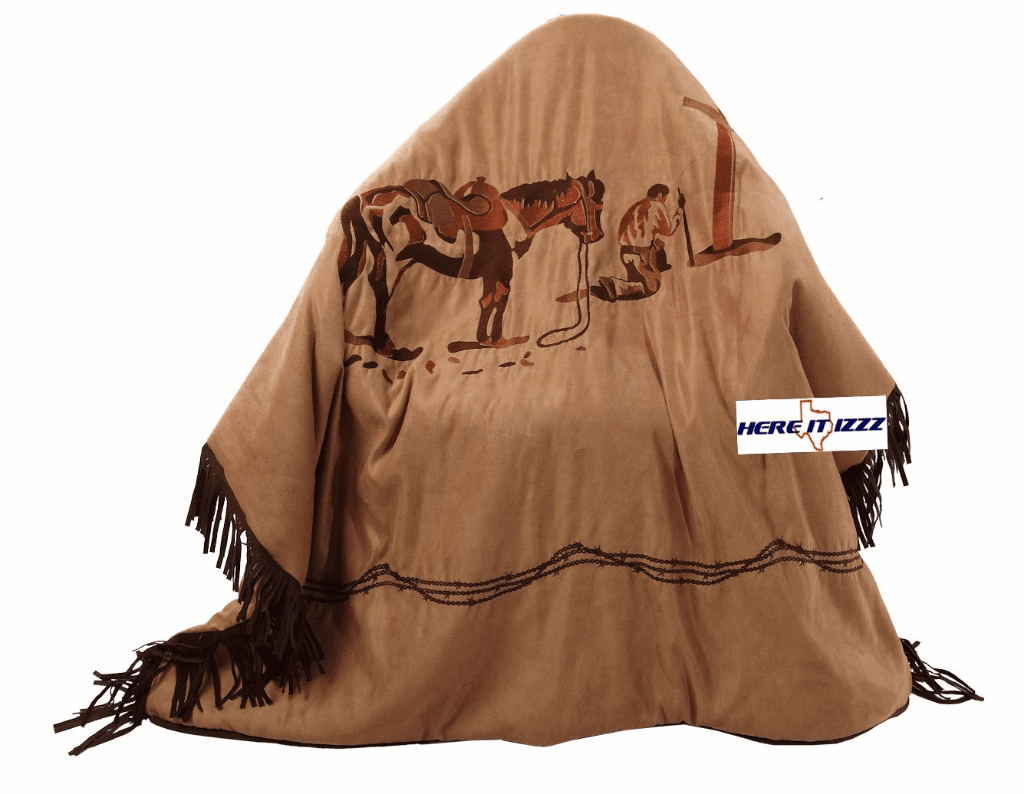 Praying Cowboy  Blanket