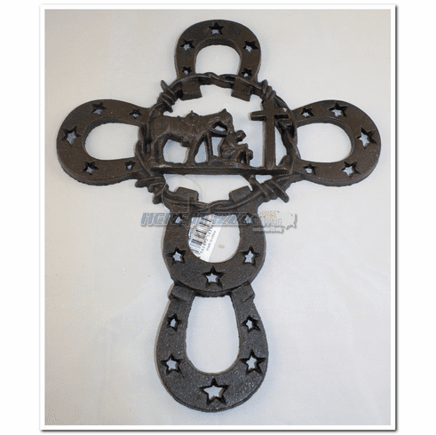 Praying Cowboy Cast Iron Wall Cross