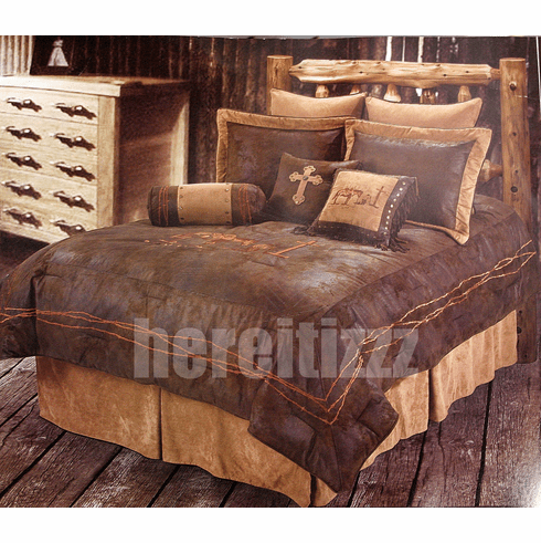 Praying Cowboy Comforter Set Twin