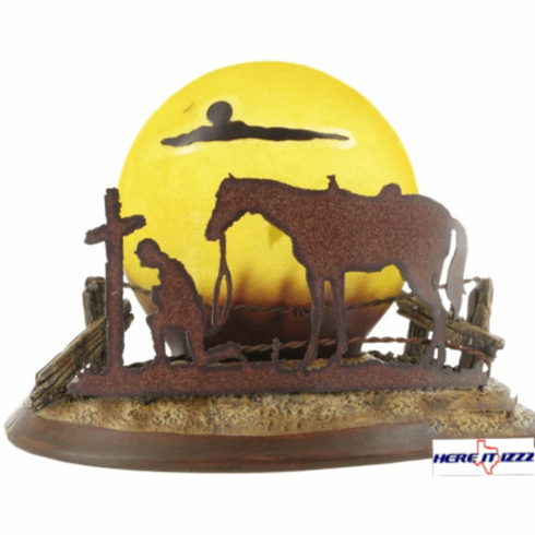 Praying Cowboy Self-standing Night Light
