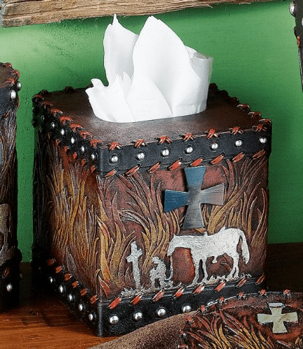 Praying Cowboy Tissue Box