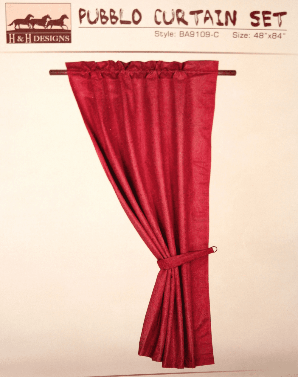 Pueblo  Burgundy Curtain