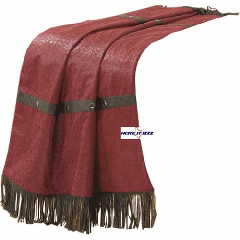 Pueblo Burgundy Throw Blanket
