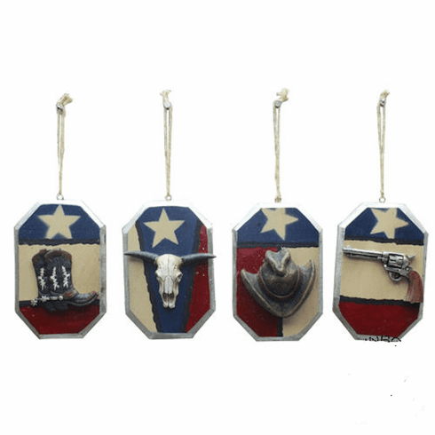 Red White and Blue Texas Hanging Ornaments