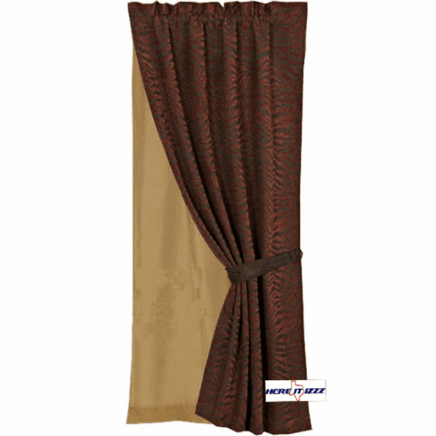 Red Zebra Curtain Set