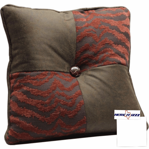 Red Zebra Square Pillow