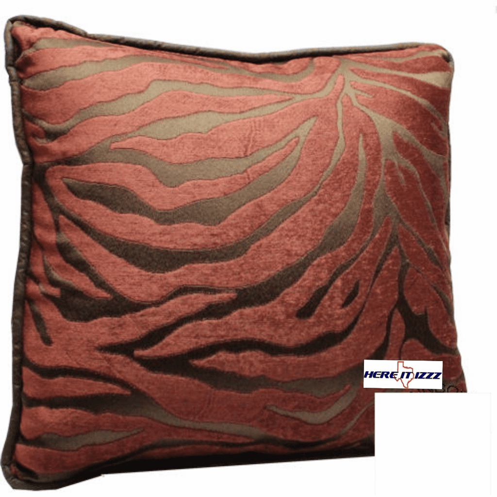 Red Zebra Throw Pillow
