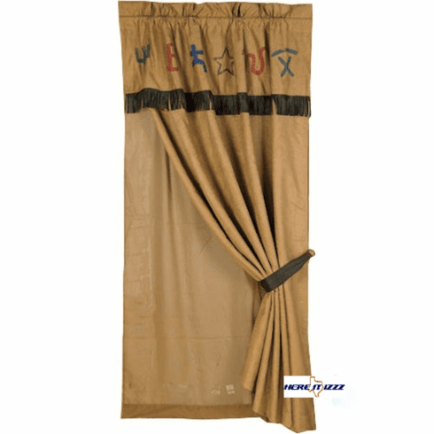 Rustic Cowboy Branded Curtain
