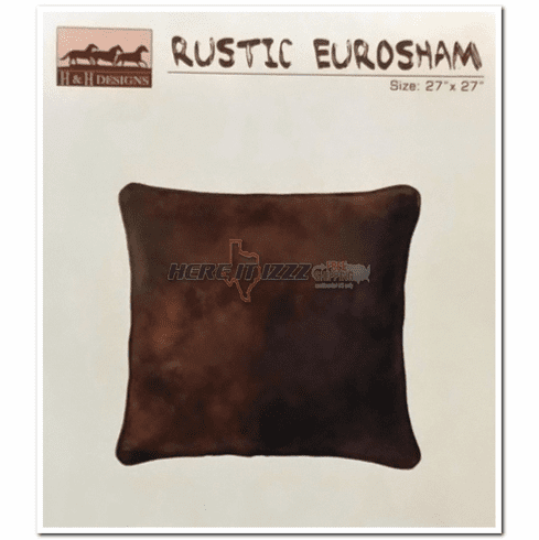 Rustic Leather Look Euro Sham