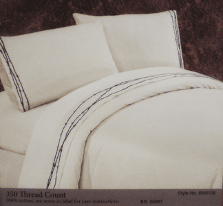 Embroidered Barbwire Sheet Set