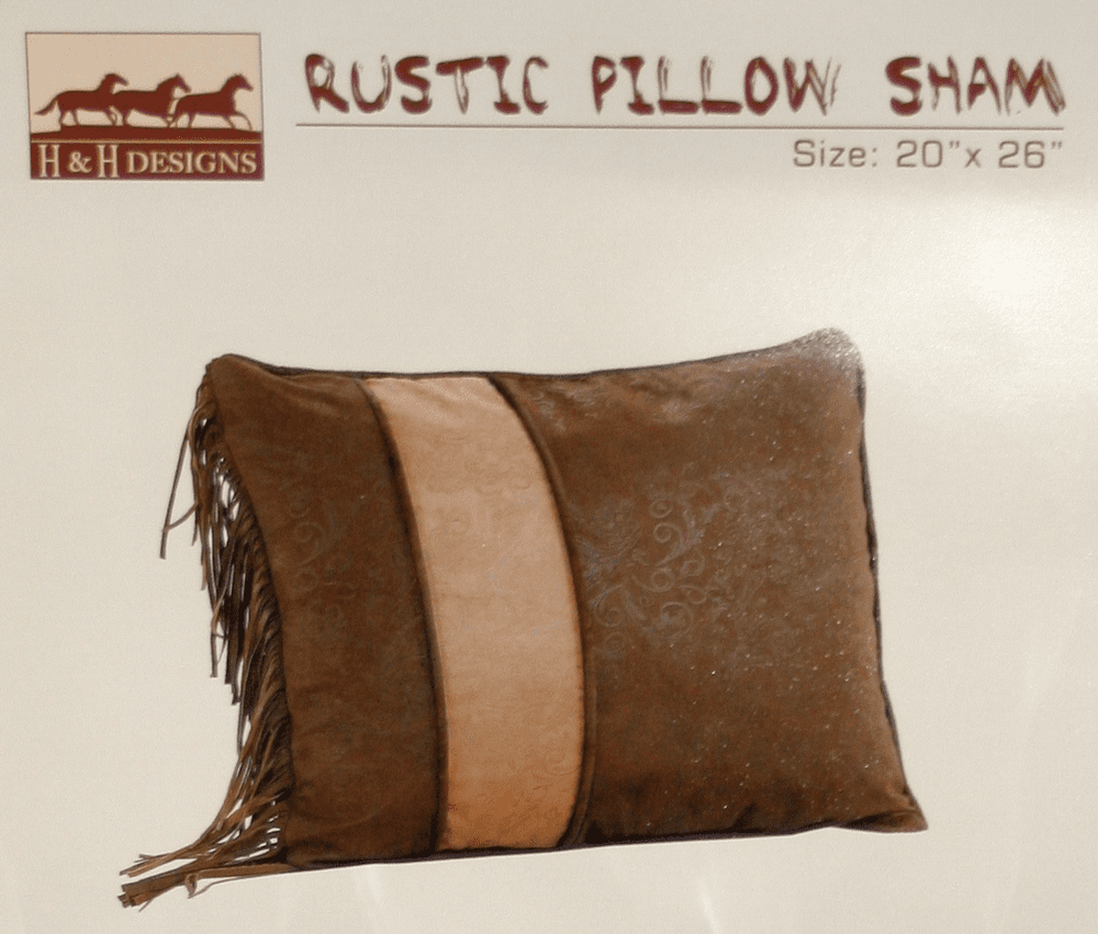 Rustic Western Two Tone Standard Pillow Sham