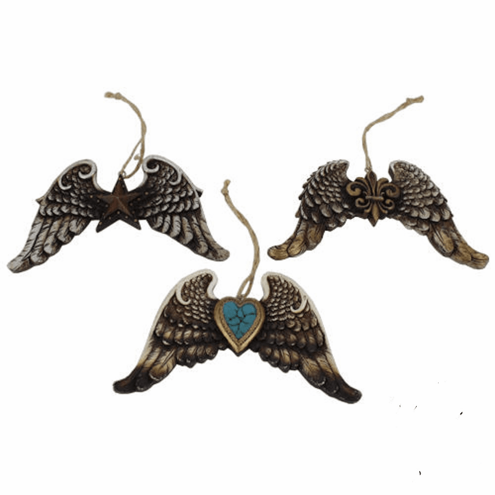 Rustic Wing Ornament 3 Piece Set