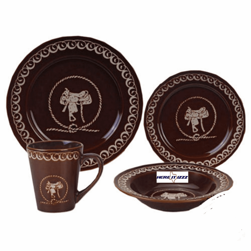 Saddle and Rope Dinnerware Set