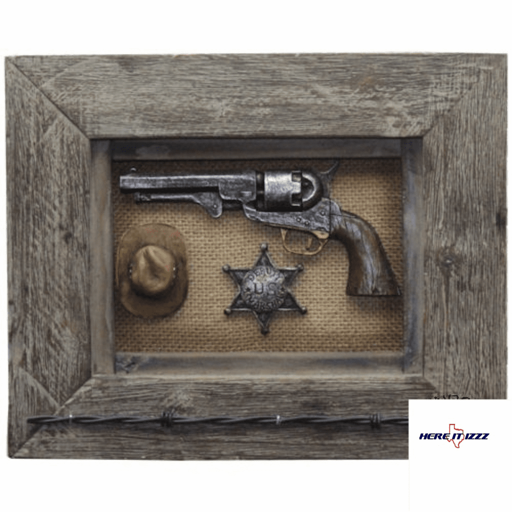 Sheriff Badge with Handgun Art
