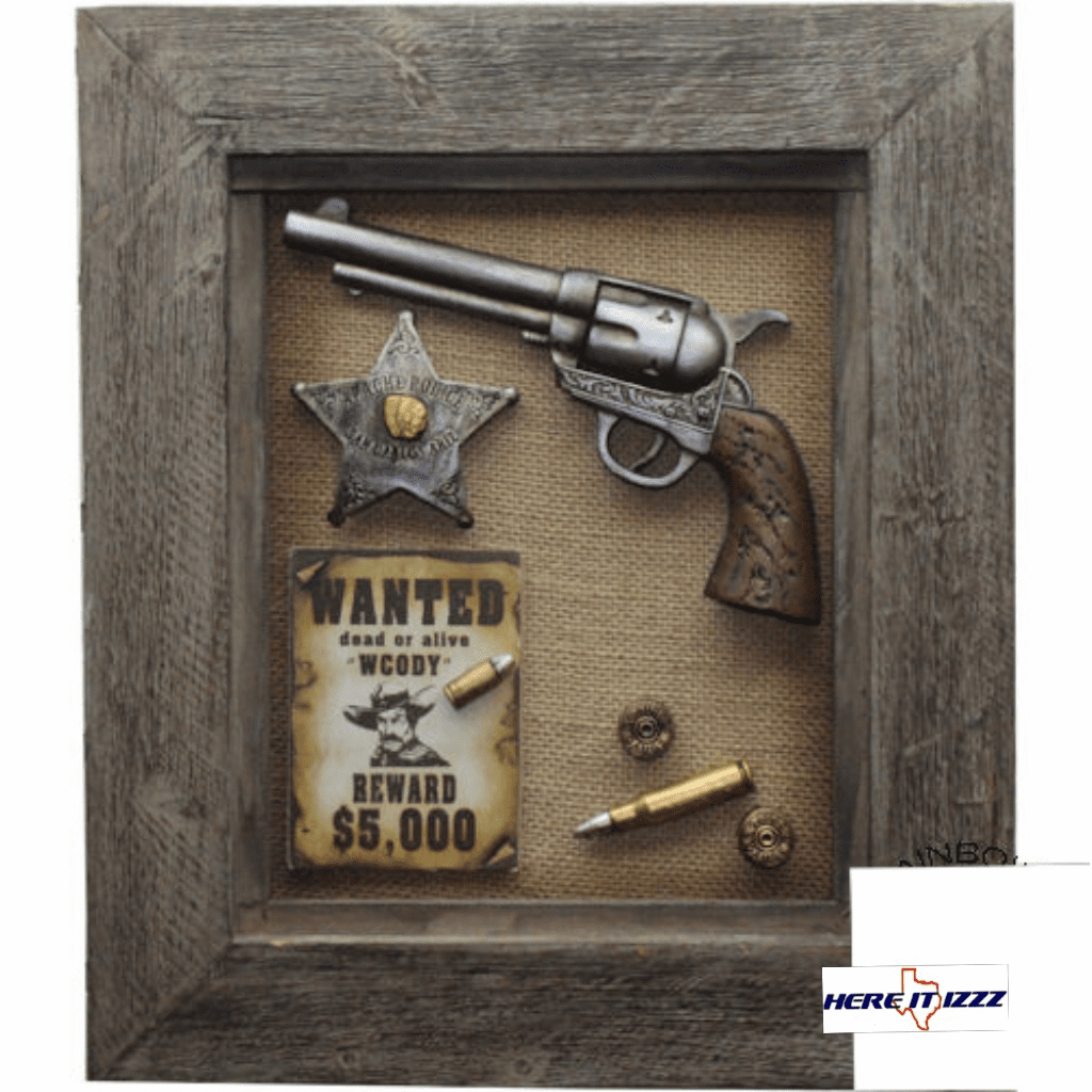 Sheriff Wanted 3D Shadow Box