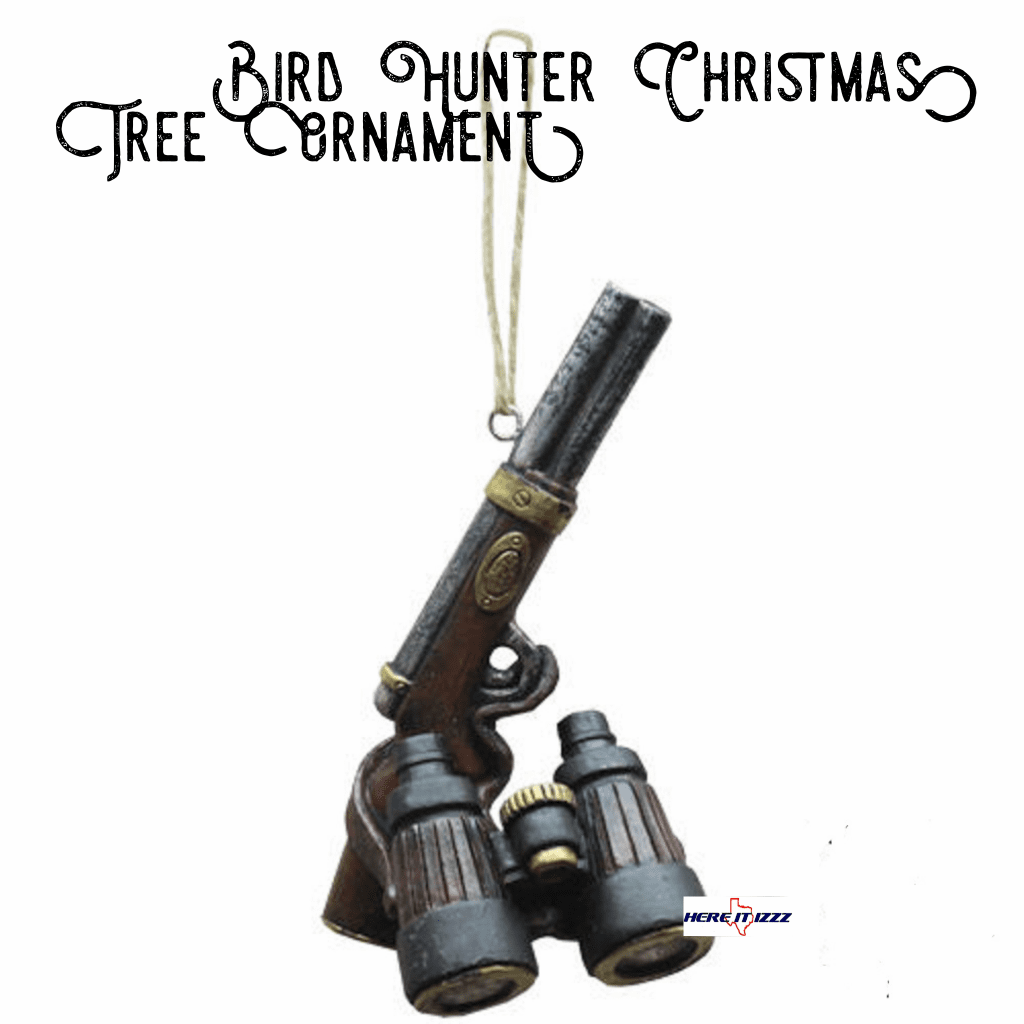 Shotgun Hunting Binoculars Christmas Ornament