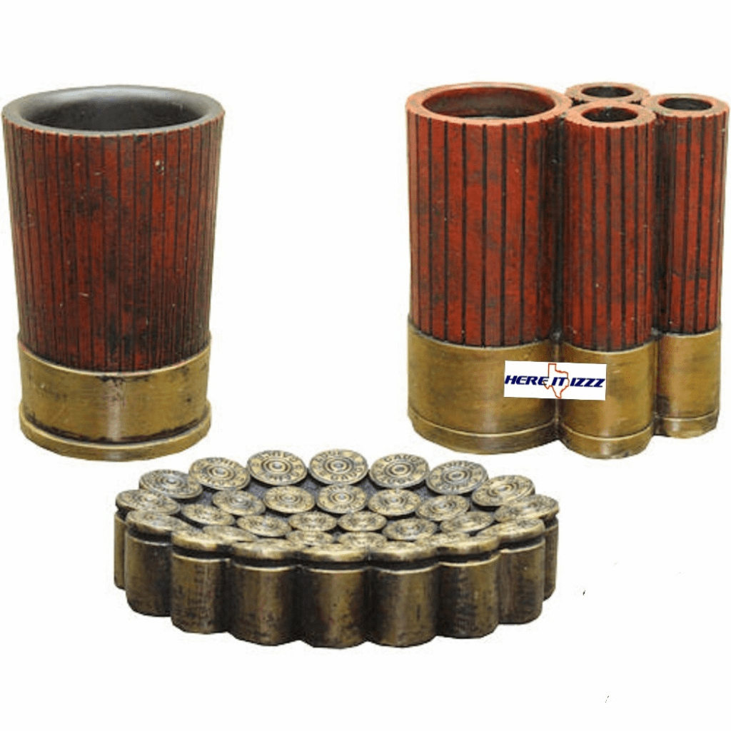 Shotgun Shell Bathroom Accessory Set