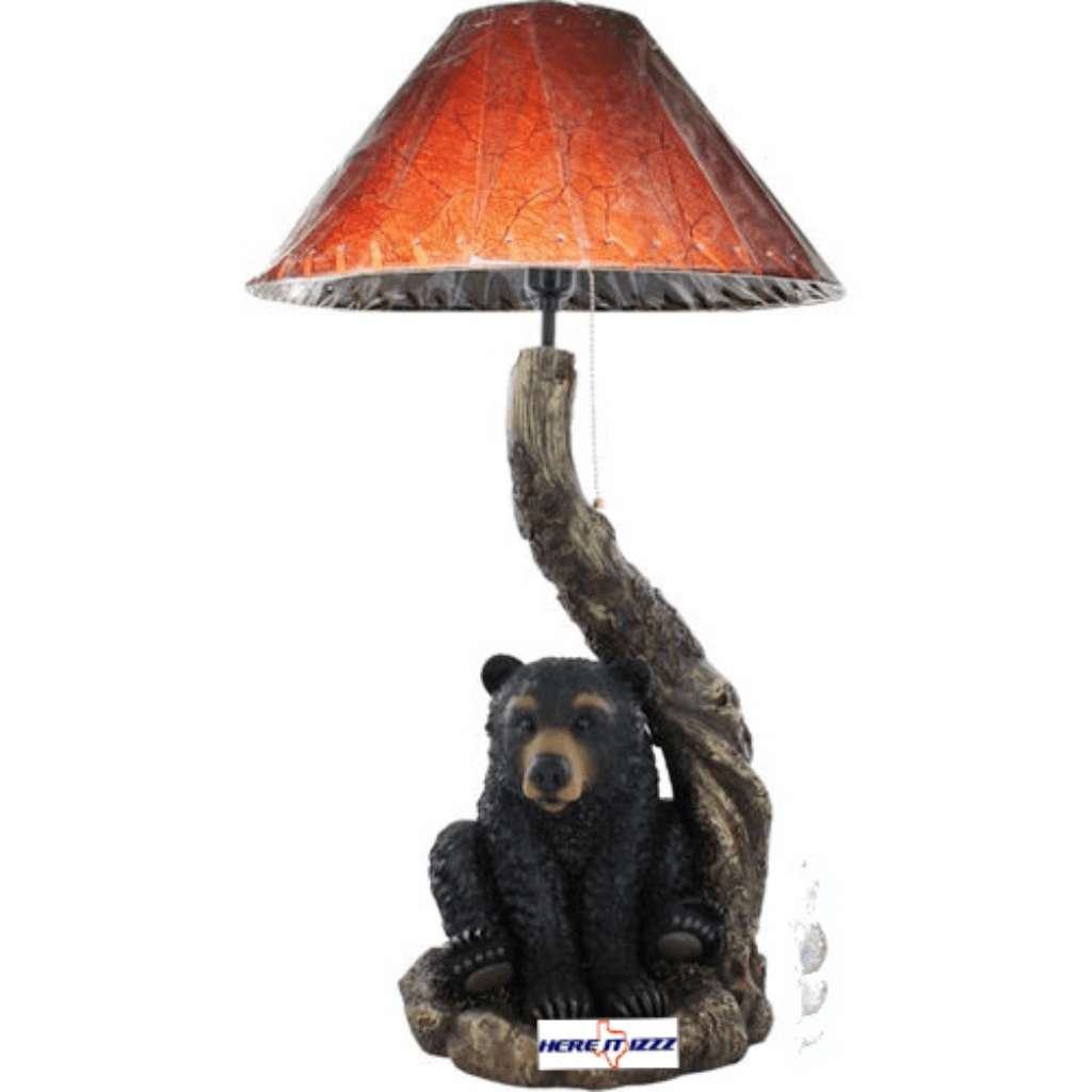 Sitting Black Bear Table Lamp
