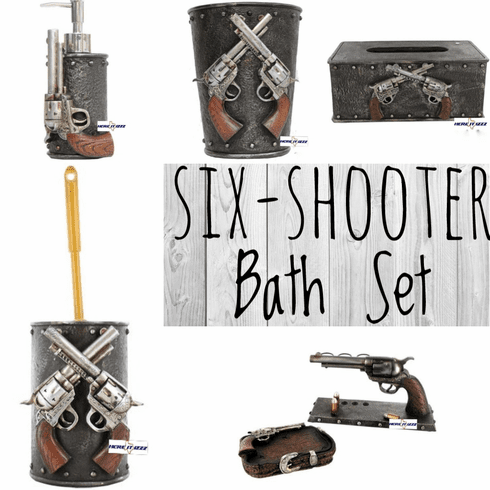 Six Shooter Complete Bath Set