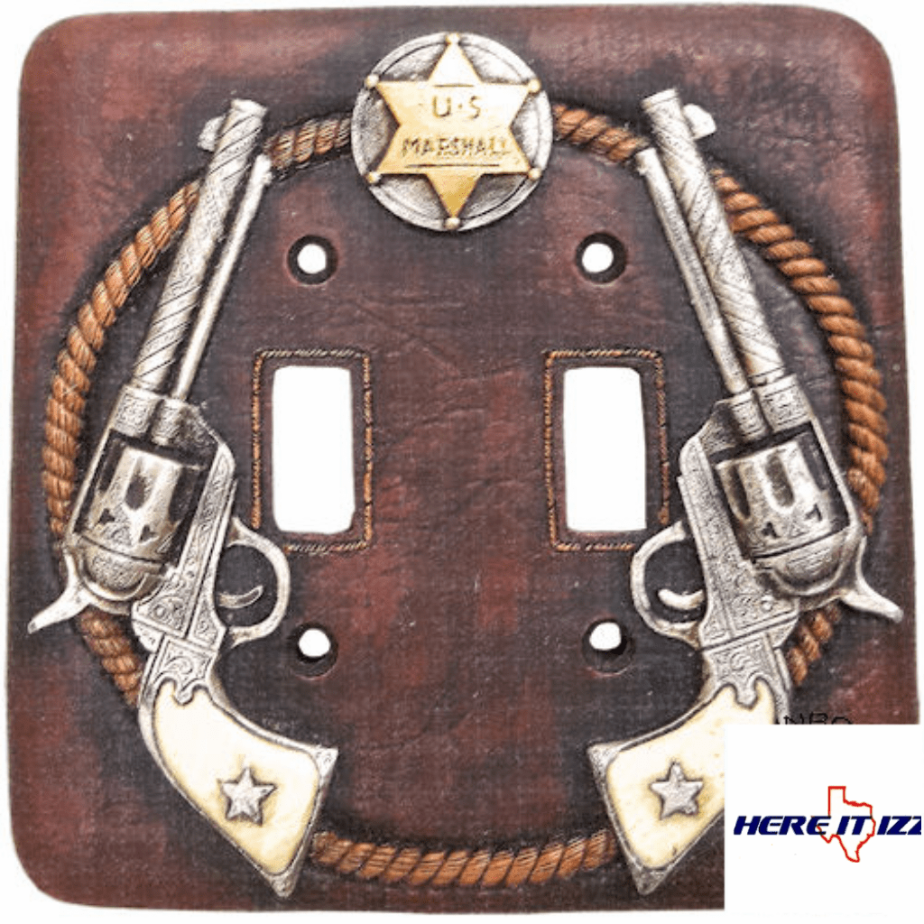 Six Shooter Gun Double Light Switch
