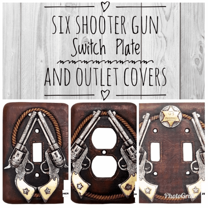 Six Shooter Gun Switch Plate And Outlet Covers