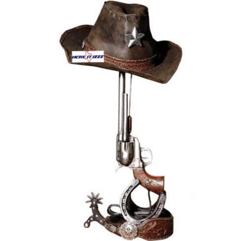 Six Shooter Pistol Cowboy Hat Lamp