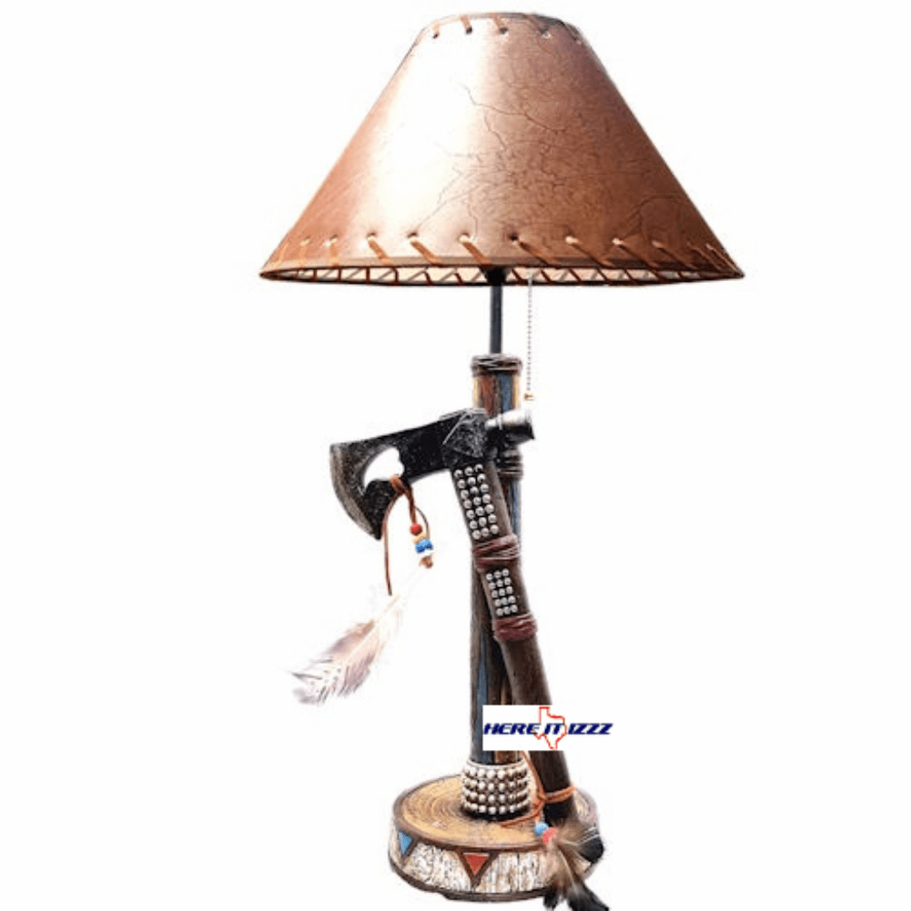 Southwestern American Indian Axe Lamp