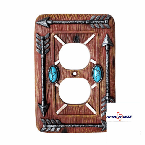 Southwestern Arrow Turquoise Stone Outlet Plate