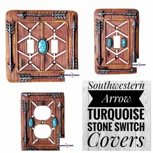 Southwestern Arrow Turquoise Stone Switch Covers