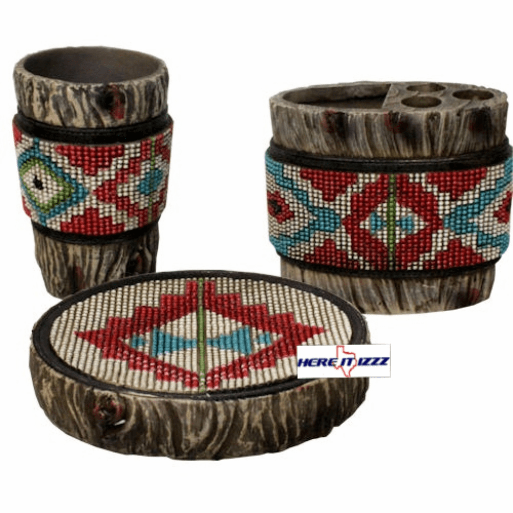 Southwestern Aztec Bathroom  3 pcs