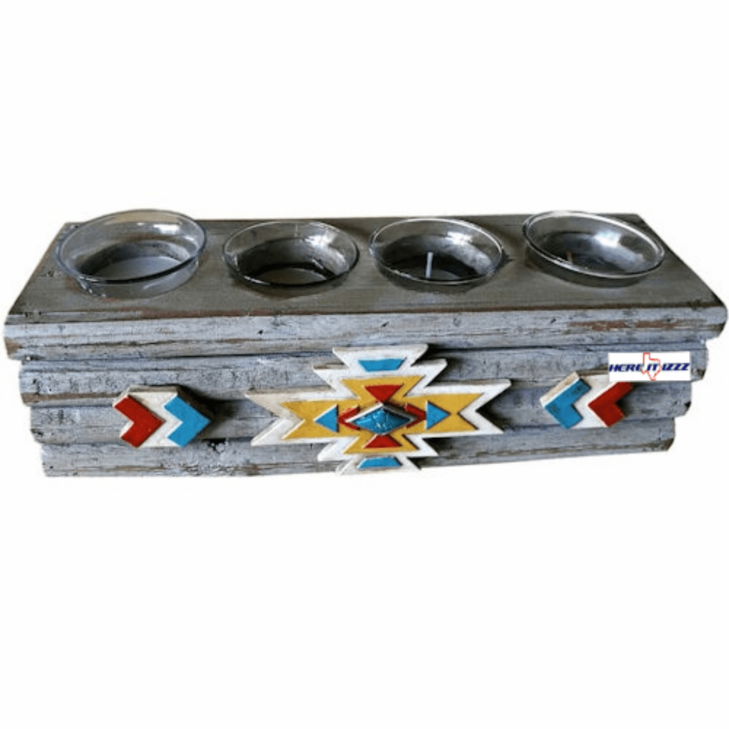 Southwestern Aztec Indian  candle holder