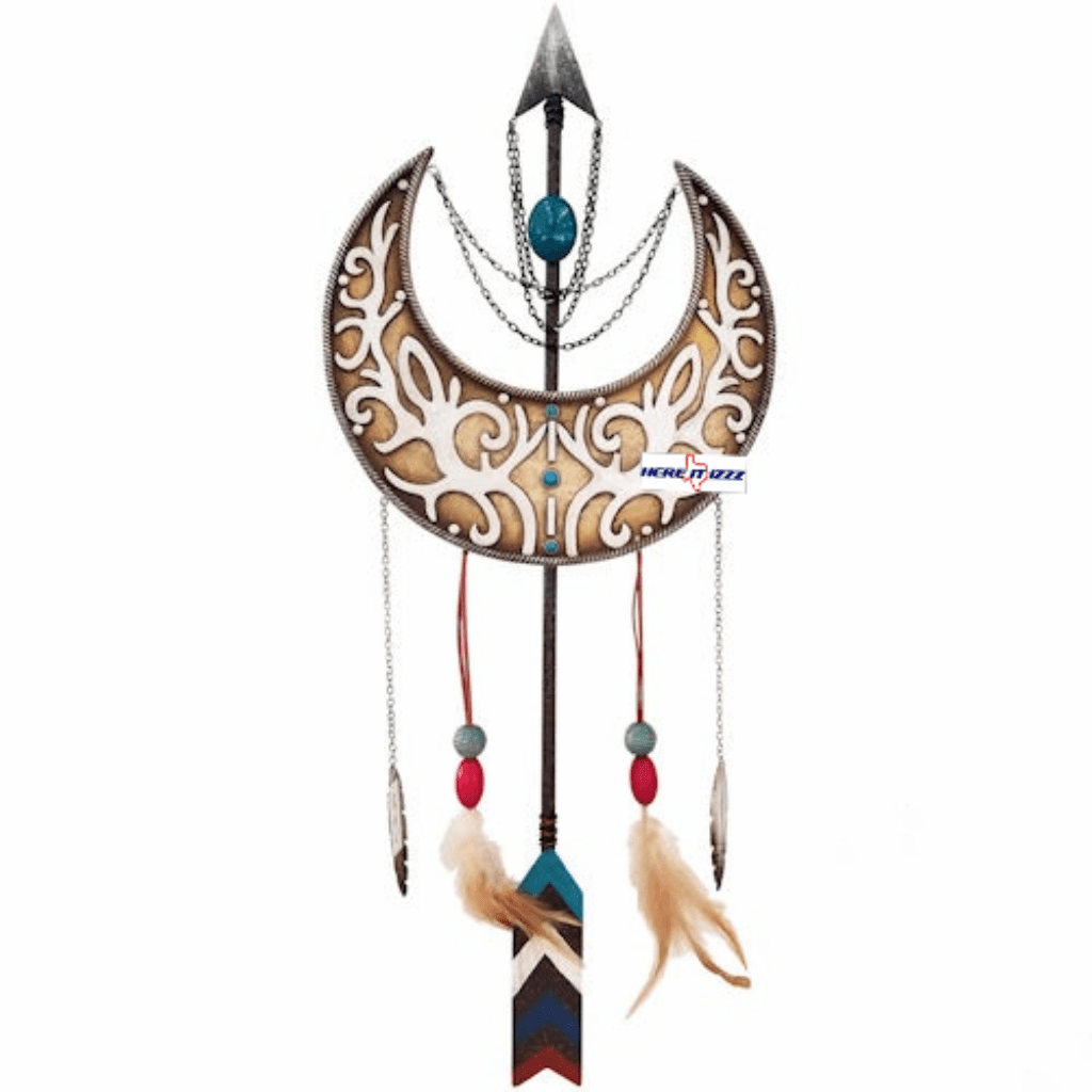 Southwestern Moon Feather & Arrow Art