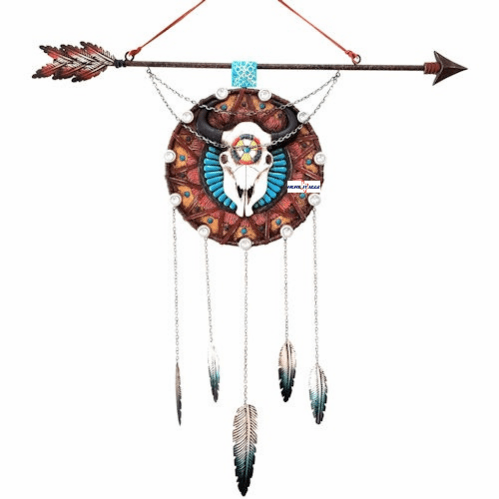 Southwestern Native American Steer Skull Wall Art