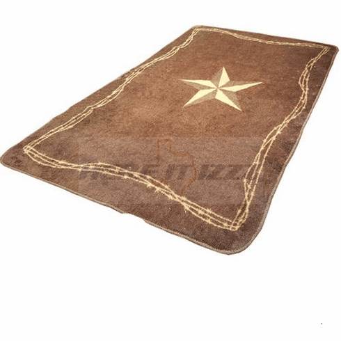 Star & Barbwire Bath Kitchen Rug
