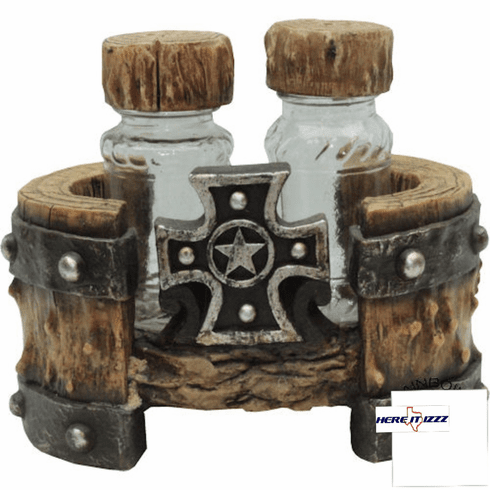 Star  Cross Salt And Pepper Holder