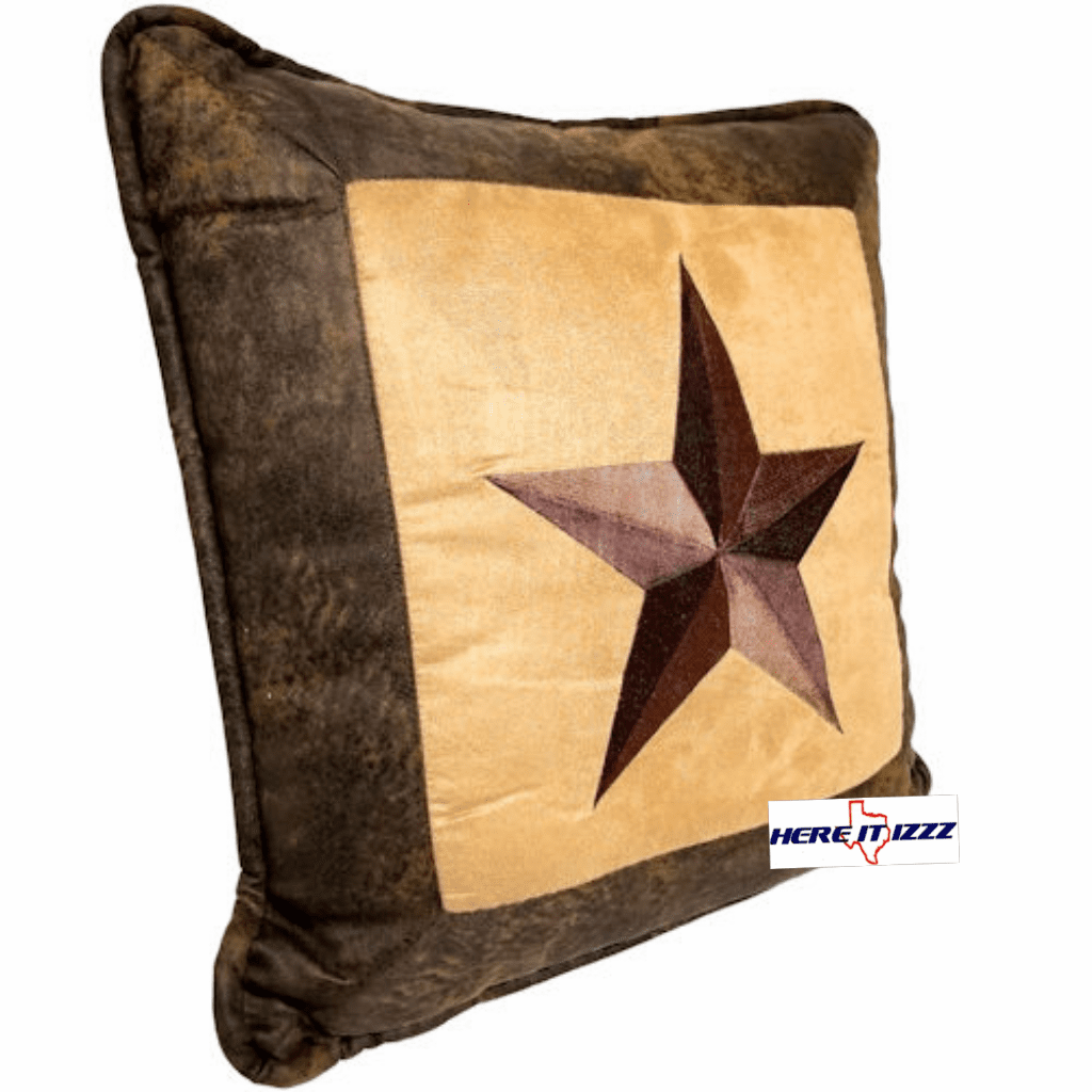 Star Embroidered Pillow