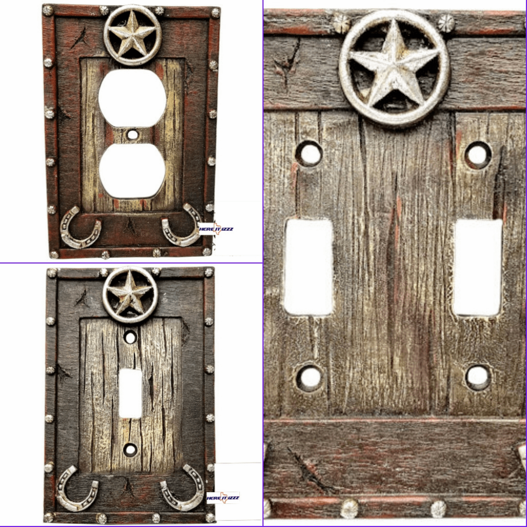Star Horseshoe Electrical Switch Covers