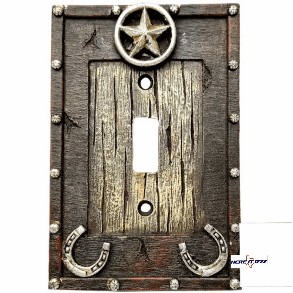 Star Horseshoe Single Light Switch Cover