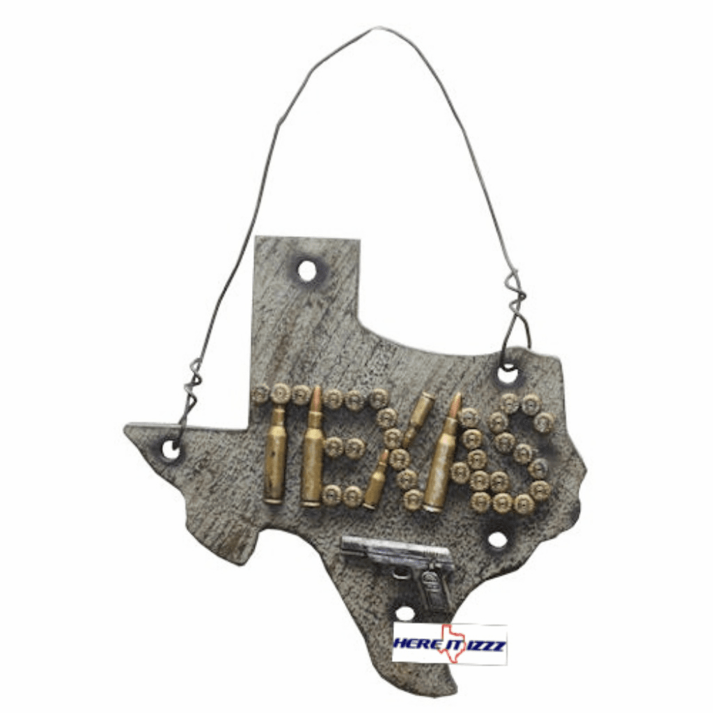 State of Texas Map Bullet Wall Hanging