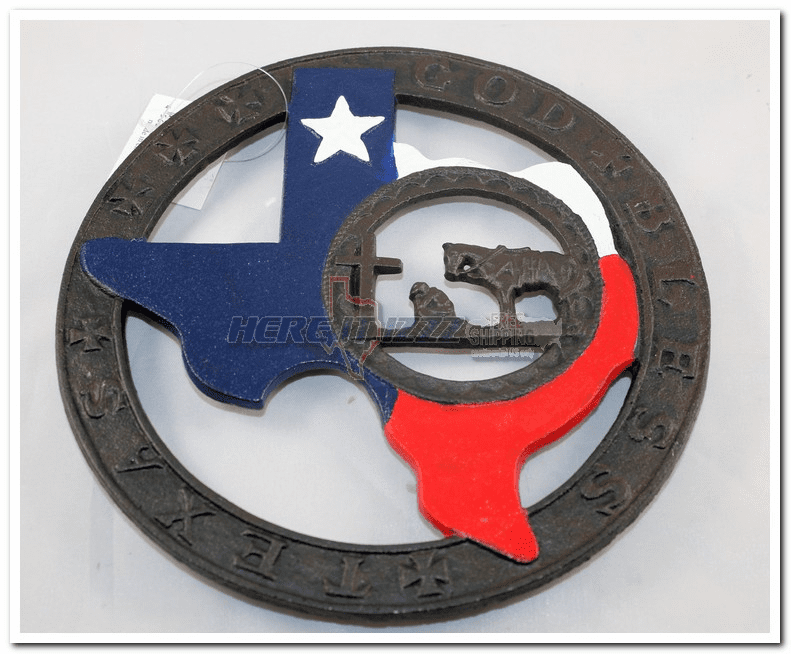 State of Texas Praying Cowboy Stove Trivet