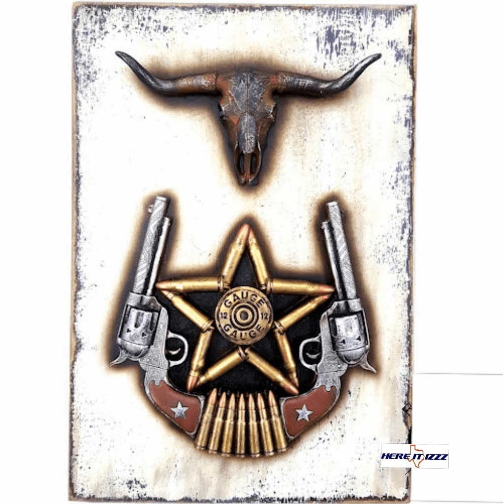 Steer Head Shotgun Shell  Wall Art