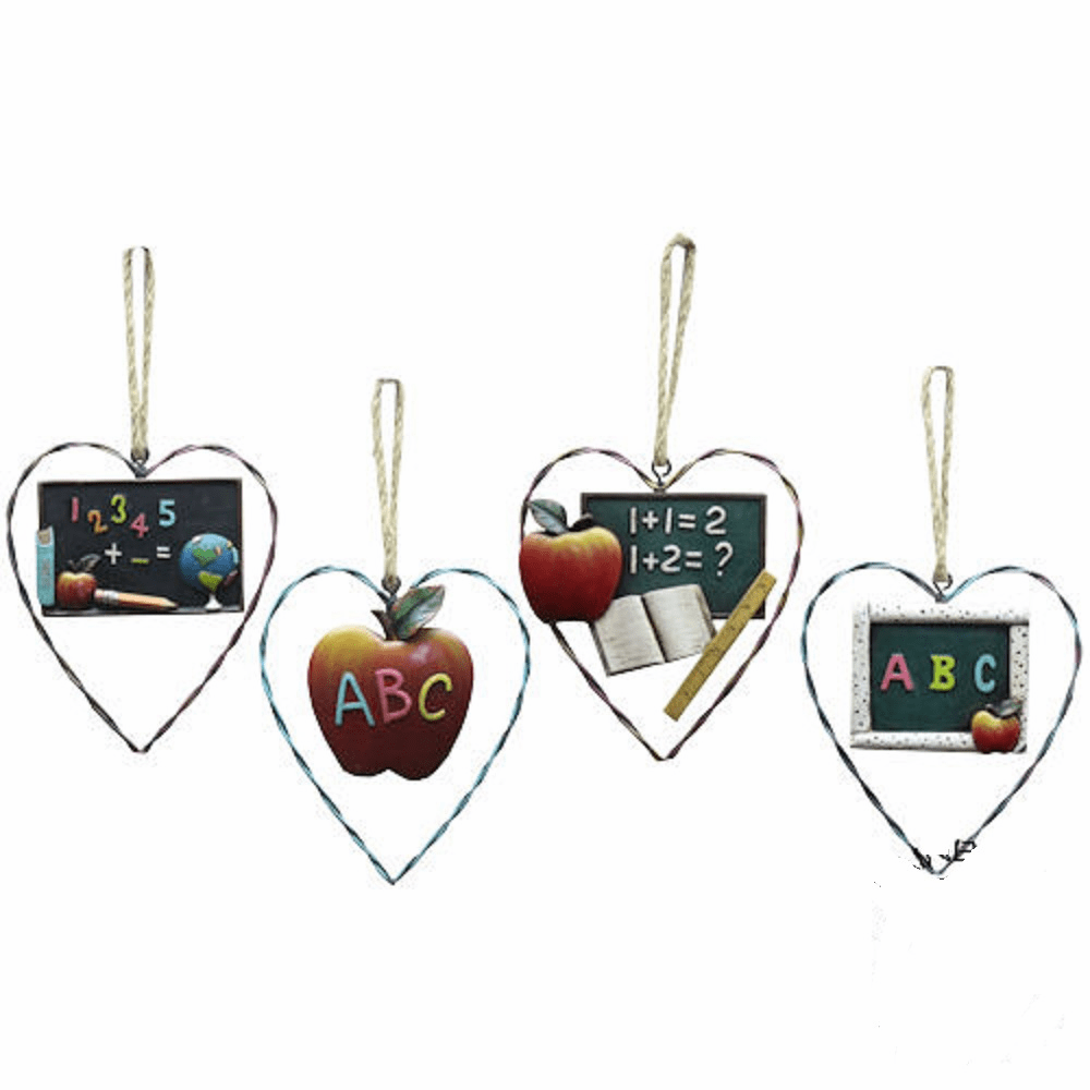 Teacher Decorative Wire Ornaments