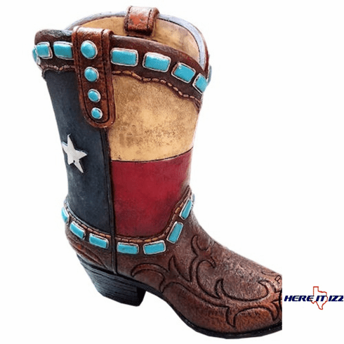 Texas 9 In  Boot Planter